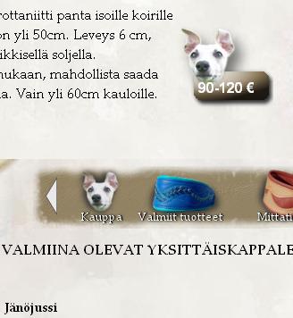 tarjoustuotesivu Design dog